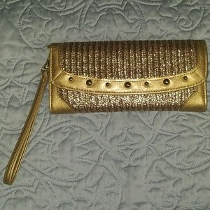 Style&Co Gold Clutch/Wristlet